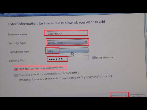 How to create wireless wifi network connection in laptop or pc