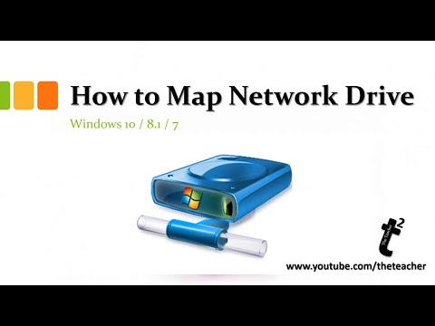 How to map network drives in windows 10 / 8.1 / 7 tutorial | the teacher