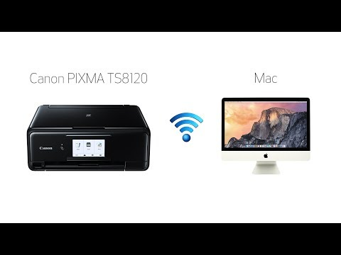 Setting up your wireless canon pixma ts8120 - manual connect with a mac