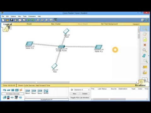 Creating wireless lan in cisco packet tracer