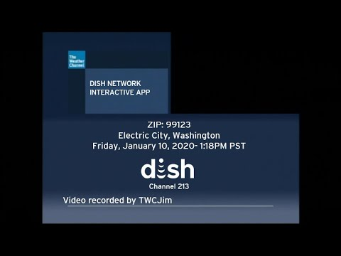 Dish network weather channel interactive app- jan. 10, 2020- 1:18pm pst