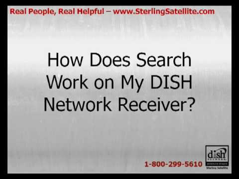 What is the search function on my dish network receiver?