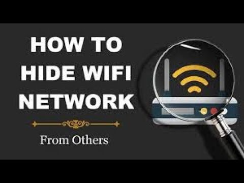 How to hide your wifi network