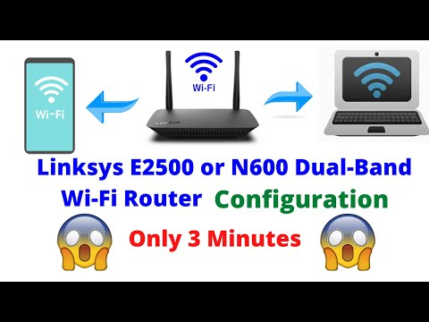 How to setup linksys e2500 or n600 dual-band wi-fi router   all configuration 2020 english