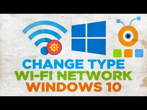 How to change windows 10 wi-fi wireless network type from public to private