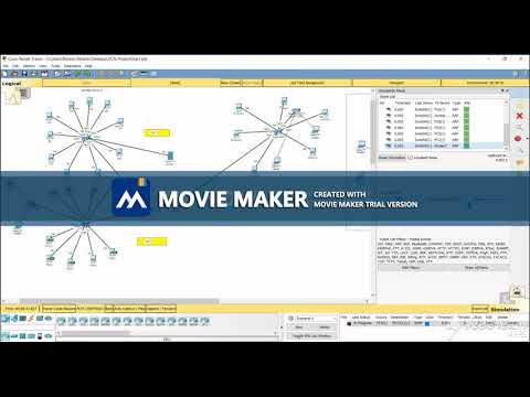 College campus network design using cisco packet tracer