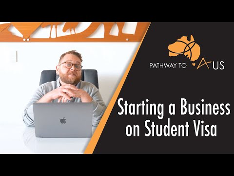 Can i start a business on a student visa?