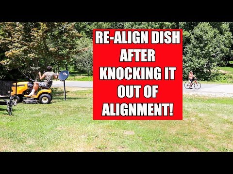 Align satellite dish without a meter after hitting it!