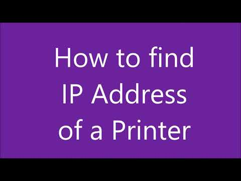 How to find an ip address of a printer
