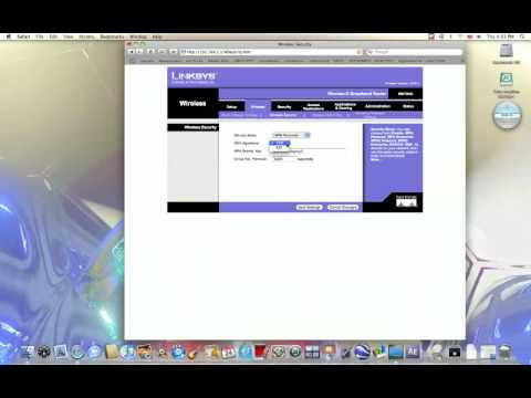 How to secure a linksys wifi network with a mac