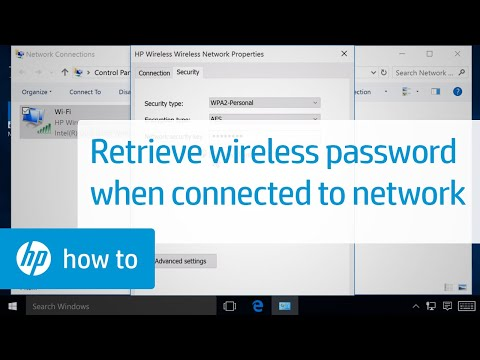 Retrieving the wireless password on a computer connected to a wireless network   hp printers   hp