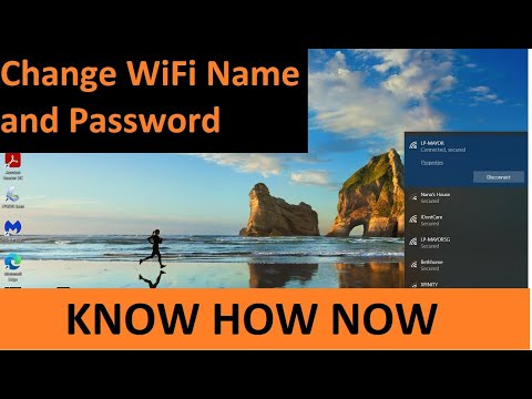 How to change wifi network name and password