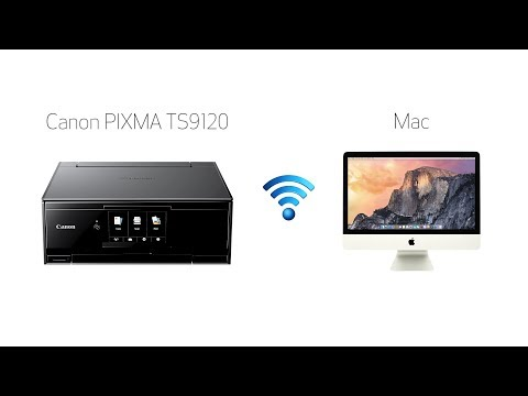 Setting up your wireless canon pixma ts9120 - easy wireless connect with a mac