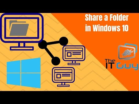 How to share a folder over network in windows 10