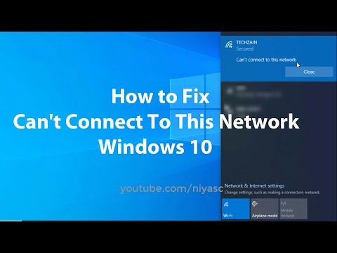 How to fix can't connect to this network in windows 10