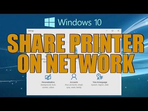 How to share printer over network windows 10