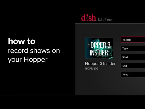 How to record shows on your hopper