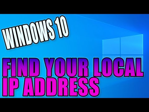 How to find out your local ip address in windows 10 pc tutorial