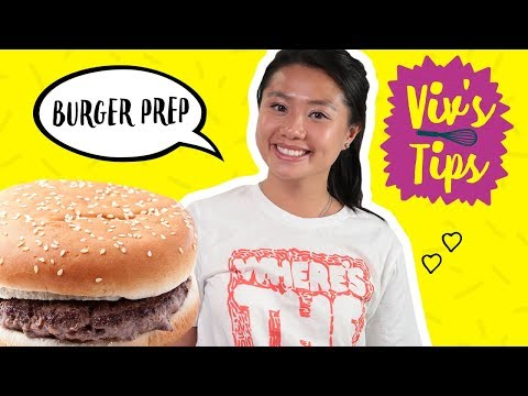 How to make a burger for one 🍔 | viv's tips | food network