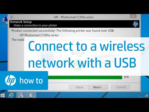 Connecting a wireless printer to a wireless network using a usb | hp printers | hp