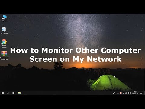 How to monitor other computer screen on my network