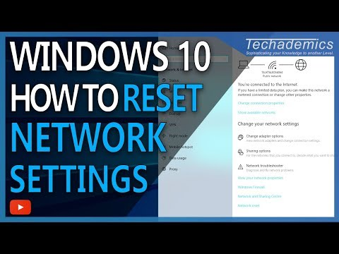 How to reset all network settings windows 10 2021