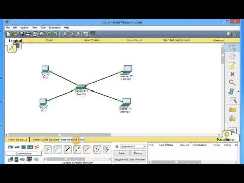 Creating a simple lan in cisco packet tracer