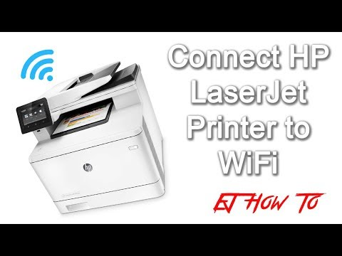 How to connect hp laserjet printer to wifi  how to   ej how to