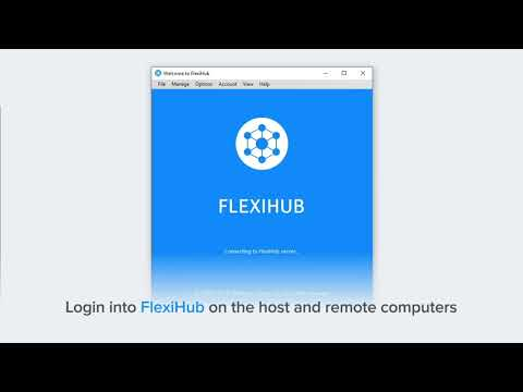 How to share external hard drive over the network [a short guide to flexihub]