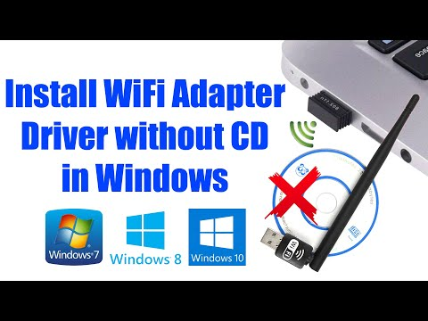 How to install wifi adapter driver without cd in windows 7/8/8.1/10 | 802.11n usb wireless lan card