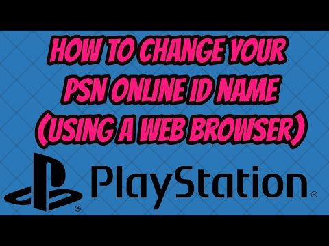 How to change psn online id name