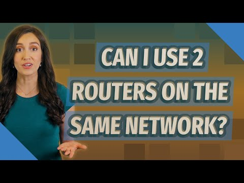 Can i use 2 routers on the same network?
