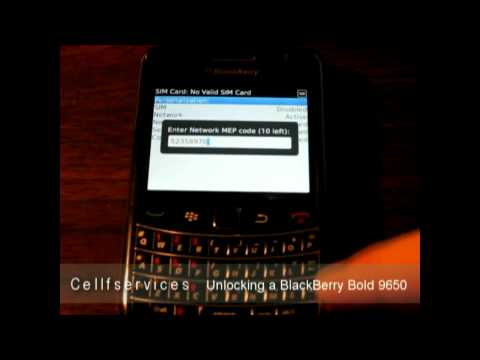 How to unlock a blackberry bold 9650 - verizon and other network carriers