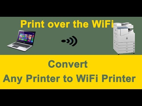 How to connect printer to wifi router | convert any printer to wifi printer using ethernet port