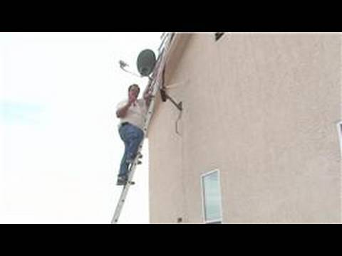 Satellite tv installation : how to position a satellite dish