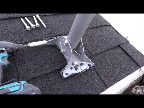 Satellite tv dish network mounting and pointing the hd dish