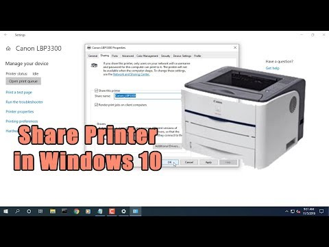 How to share a printer in windows 10   netvn