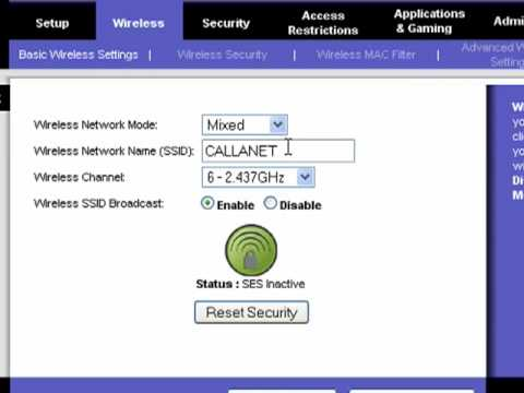 Name your network by changing its ssid