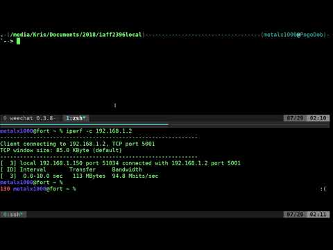 Linux shell test your network speed from the command line