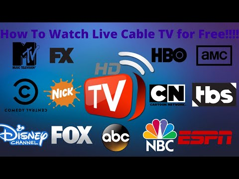 How to watch live cable tv online for free!!
