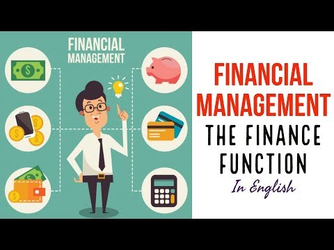 The finance function   financial management