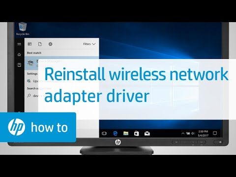Reinstall a wireless network adapter driver in windows | hp computers | hp