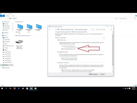 How to enable or disable network sharing discovery in windows 10/8.1/7