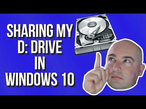 How to share a whole drive in windows 10 - april 2018 update