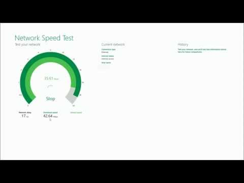 Network speed test from microsoft research
