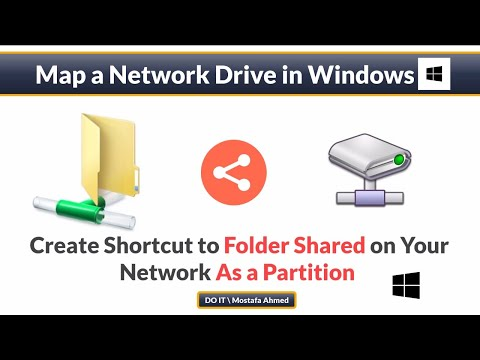 How to use map a network drive in windows 10