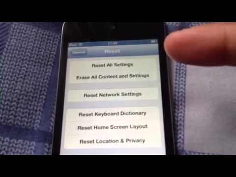 How to 'reset all settings' on your ipod touch, iphone and ipad