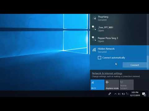 How to connect to hidden wireless networks in windows 10