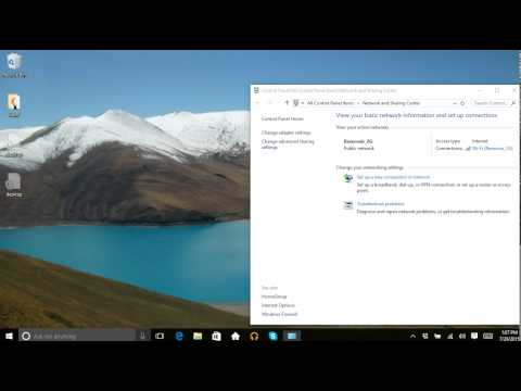 Windows 10: change a network from public to private