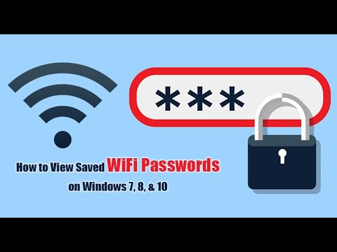 How to find stored wifi password in windows 7, 8 & 10